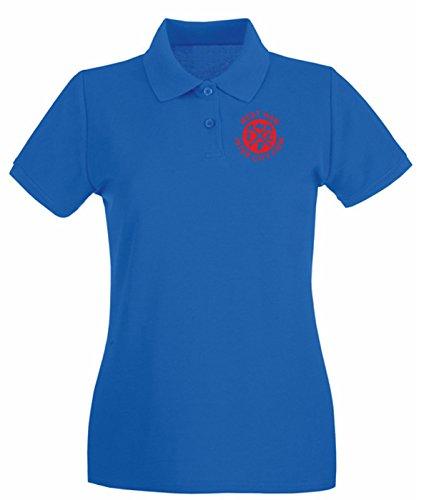 Cotton Island - Polo pour femme TUM0005 west ham inter city firm Bleu Royal