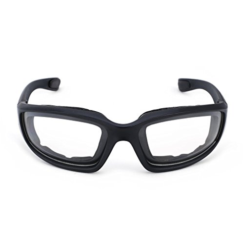 Motorradbrille Schutzbrille Fahrradbrille Radsportbrille Skibrille mit UV400 Outdoor Schutz für Damen und Herren Sonnenüberbrille Autofahren Laufen Radfahren Angeln transparent By Yxaomit