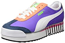 PUMA Roma Amor Logo Wn's, Scarpe da Ginnastica Donna, Viola (Luminous Purple White-Dark Denim), 40 EU