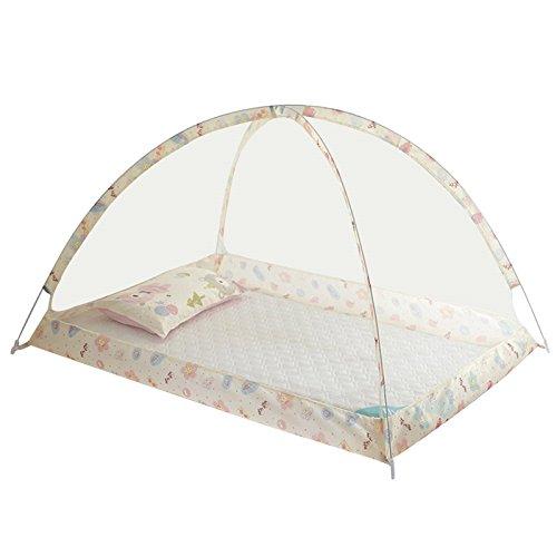 asdomo Mosquito Nets faltbar tragbar Bodenloser Wiege Fliegennetz Anti Mücken Bett Zelt Mosquito Geflechte für Baby Kleinkind Infant, 89,9x 119,9cm
