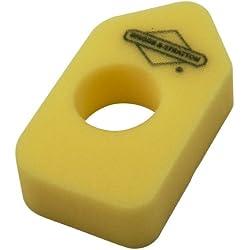 Gelber Schaumstoff-Luftfilter von Briggs & Stratton. Für klassische, Sprint- und Quattro-Motoren