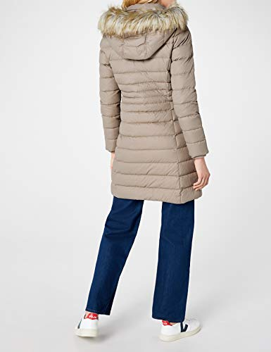 Tommy Jeans Hilfiger Denim Damen Mantel THDW Basic Coat 3, Beige (Fungi 004), X-Small - 5