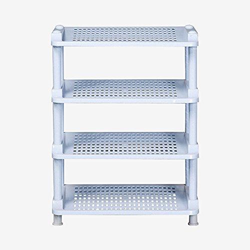 Semplice multistrato plastica scarpe rack multi-funzione per la griglia ripiano portico camera da bagno con mensola, medium