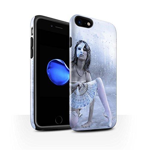Officiel Elena Dudina Coque / Brillant Robuste Antichoc Etui pour Apple iPhone 7 / Reine des Forêts Design / Un avec la Nature Collection Masque d'Hiver