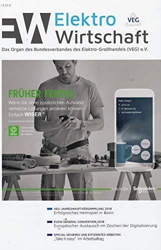 Elektro Wirtschaft 7 2018 EUEW General Convention Zeitschrift Magazin Einzelheft Heft VEG Großhandel