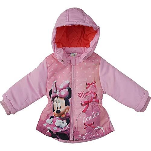 Disney Minnie Mouse Kinderjacke für den Winter/Winterjacke Mantel Parka/lang Longjacke Jacke für Baby/Mädchen gefüttert mit Kapuze - tolles Geschenk zur Geburt/Weihnachten - pink (12 Monate)