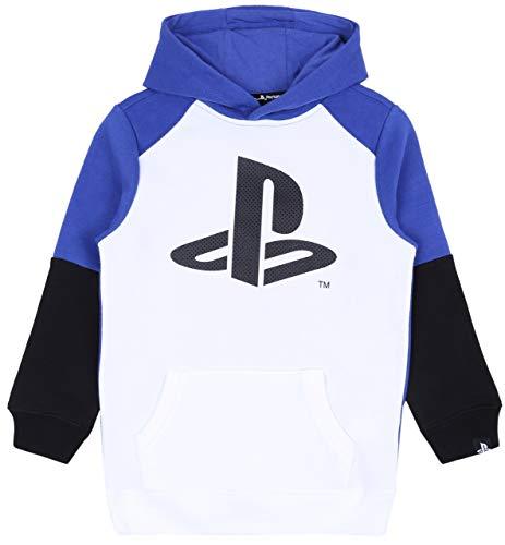 sarcia.eu Weißes und blaues Playstation-Sweatshirt 9-10 Jahre
