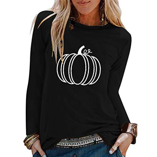 Sweatshirts Damen Casual Halloween Print Shirts O-Ausschnitt Top T-Shirt Bluse Partner Baseball Jacke Weihnachten 3D Rot Kapuzenjacke Weihnachtspulli Hoodie Sweatjacke Sportjacke Jacket (Schwarz.L3) -