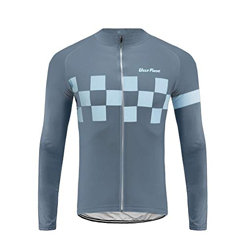 Uglyfrog Radtrikot Herren Langarm,Fahrradtrikot Herren Langarm,Fahrrad Shirt Herren mit Taschen