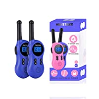 Miavogo Walkie Talkie Kids - Two Way Radio Walky Talky Toys PMR446 8 Channel 3 Miles Long Range for Boys Girls Indoors Outdoors Activities, Blue