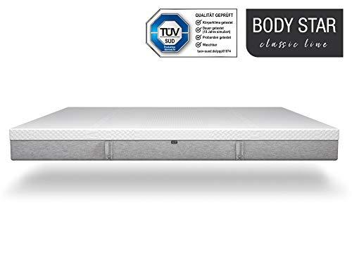 Body-Star Classic line - Die vielleicht Beste Matratze der Welt: 90x200cm, 7-Zonen Wendematratze, 2 Liegehärten (H2 & H3) für alle Körpertypen geeignet, Oeko-TEX 100, TÜV Zertifiziert