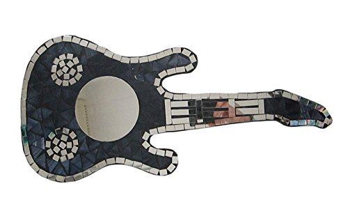 Double Duck Mosaik GITARRE SPIEGEL, 47 cm lang schwarz (Lackierte Gitarre)