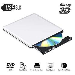 * Jouez à des disques Blu-Ray, ce lecteur Blu-ray USB 3.0 vous permettant de lire des disques Blu-Ray, DVD et CD, écrivez uniquement sur un DVD ordinaire, cd.Avec un port USB3.0, il offre une vitesse de transmission de données plus rapide et plus for...