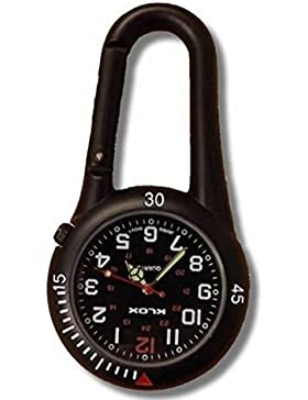 Taschenuhr Schwarz Zum Aufklammern Ideal Für Ärzte Krankenschwestern Sanitäter Köche kommt mit Geschenkbox