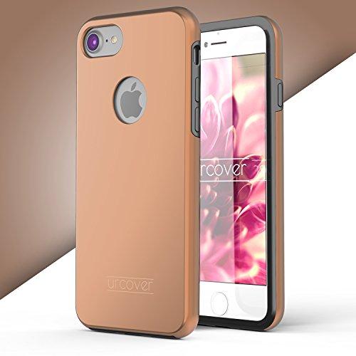 iPhone 7 Étui, Urcover Full Body Dual Apple iPhone 7 Coque 360 Degrés Layer TPU + PC Placage [Nouvelle Version] Housse Antichoc Rose Dorée Case Rose Dorée