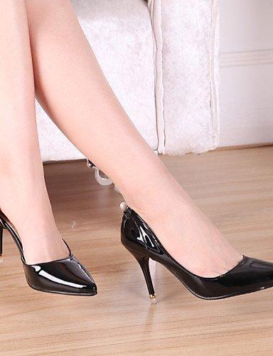 UWSZZ IL Sandali eleganti comfort Scarpe Donna-Scarpe col tacco-Matrimonio / Ufficio e lavoro / Casual-Tacchi / A punta-A stiletto-Finta pelle-Nero / Rosa / Rosso / Bianco Pink