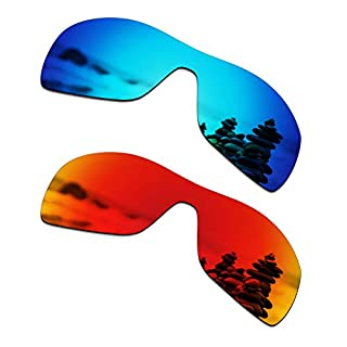 SmartVLT Men's Ice Blue&Fire Red Replacement Lenses for Oakley Antix Sunglass