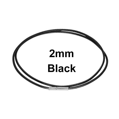 Armband Armreif,Schmuck Geschenk, Necklace Cord String Rope Lace Chain with Rotary Buckle for DIY Necklace Bracelet In Black Red Coffee Color Jewelry Finding New Black - 2.0mm 41cm (16 inches) (Black 16 Necklace Cord)