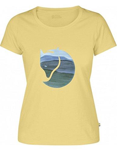 Fjällräven Damen Watercolour Fox W Blusen & T-Shirts, Pale Yellow, L