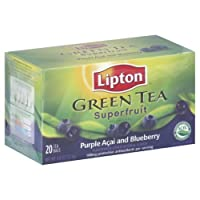 Lipton Tea Purple Acai With Blueberry Green Tea, 20-count (Pack of6)
