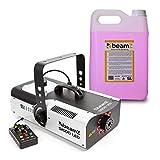 beamZ S1500LED Nebelmaschine mit LED • DMX • 1500 W • 9 x 3 W • 2.5 Liter Tank • Intervall, Dauer und Intensität einstellbar • inkl. 5-Liter-Nebelfluid • schwarz