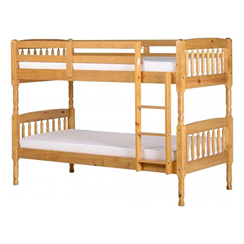 Seconique Albany Wooden Bunk Bed in Antique Pine