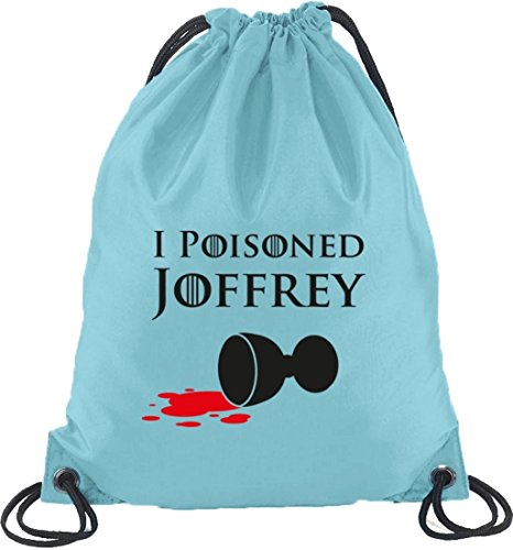 Shirtstreet24, I Poisoned Joffrey, Turnbeutel Rucksack Sport Beutel Hellblau