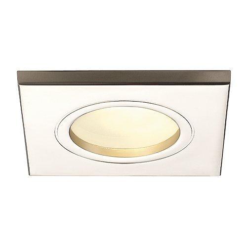 SLV DOLIX OUT Leuchte Outdoor-Lampe Aluminium/Glas Silber Lampe außen, Aussen-Lampe (Ist Deckenfluter Fertig)
