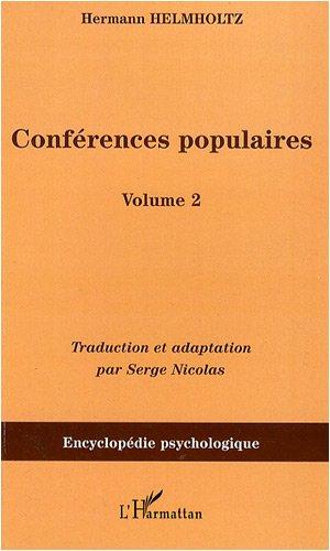 Conférences populaires : Volume 2 par Hermann von Helmholtz
