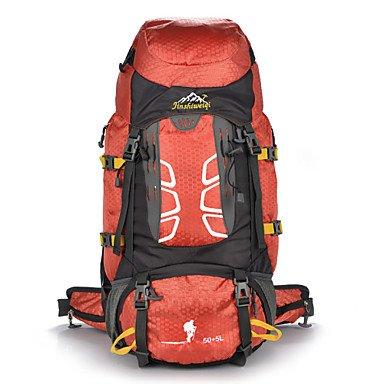 55 L Rucksack Klettern Freizeit Sport Camping & Wandern Wasserdicht Staubdicht tragbar Multifunktions Red