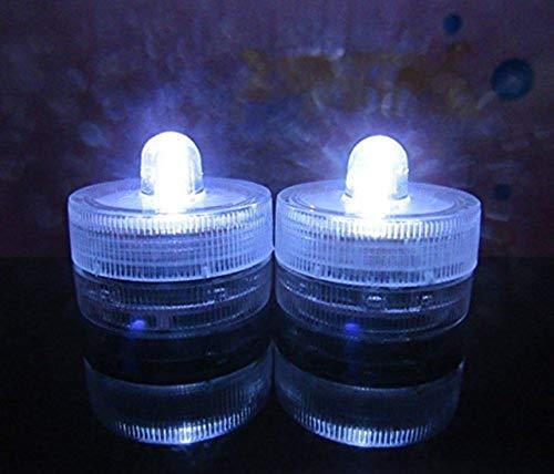 te LED Kerzen LED Lichter, Unterwasser Teelichter für Hochzeit, Party, Tee Vase, Dekoration Drahtlose Batteriebetriebene Kerze Weiß ()