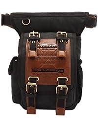 Vintage Canvas Shoulder Messenger Bag - KAUKKO Vintage Canvas Shoulder Messenger Leg Bag Sling School Bags Chest...