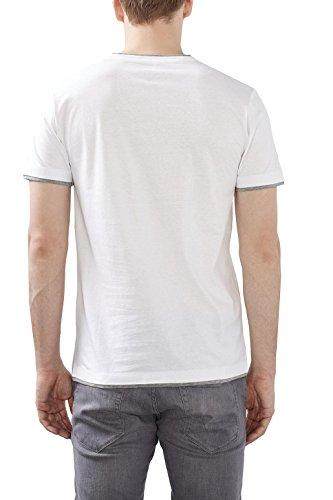 ESPRIT 997ee2k812-2in1, T-Shirt Uomo Bianco (White)