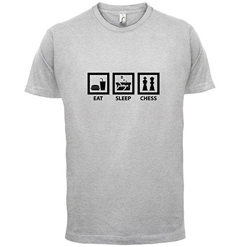 Eat Sleep Chess - Herren T-Shirt - 13 Farben Hellgrau