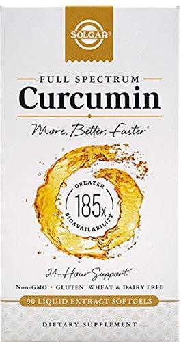 Solgar | Vollspektrum-Curcumin | 90 Gel-Kapseln | glutenfrei | ohne Gentechnik