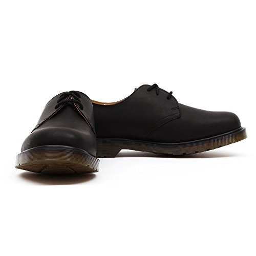 Dr. Martens 1461 3 Eyelet Oxford, Oxford mixte adulte Nero(Black Greasy)