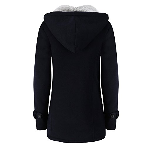 Winwintom Oversize Jacke Windbreaker Mantel Frühling Herbst Winter Stilvoll Bequem Outwear, Frauen Halten Warme Windbreaker Outwear Warme Wolle Slim Long Coat Jacke Graben