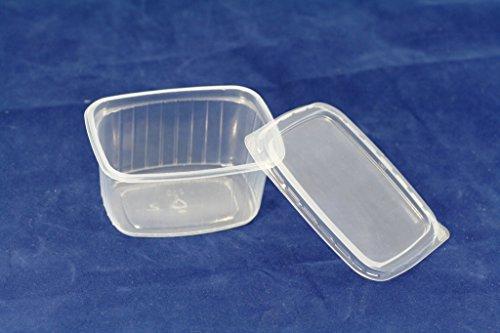 (150Stück) 250ml Salat Container Takeaway Fast Food Einweg Box Kunststoff Deckel Aufbewahrung (Kunststoff-einweg-behälter)