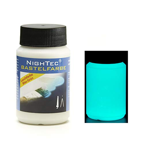 NighTec Leuchtfarbe Bastelfarbe, 100ml Nacht Farbe