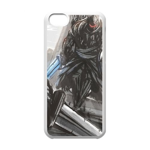 Dark Souls coque iPhone 5C Housse Blanc téléphone portable couverture de cas coque EBDXJKNBO15716