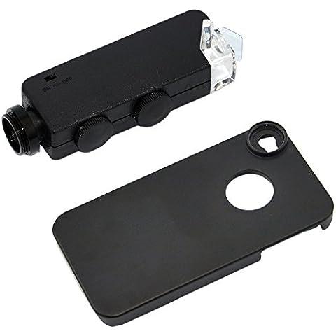 Apexel CL-53-I4 - Kit de fotografía para iPhone 4 (microscopio 100x, carcasa), negro