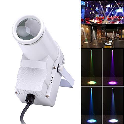 U'King Bühnenlicht LED 30W RGBW Sound Active DMX512 Steuerung ABS Schwarz Scheinwerfer für Home Decor DJ Disco Club Bar KTV Party Weihnachten (white)