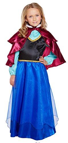 Kinder Mädchen Ice Prinzessin Anna Frozen Fairytale Fancy Kleid Kostüm Outfit aller Altersstufen Vex ()