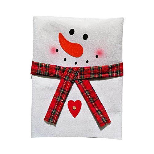 Huacat Hussen Stuhl Bezüge Rückseiten Abdeckungen Küchen Stuhl Abdeckungen Stellt für Weihnachtsfeiertags Festlichen Dekor, Xmas Weihnachten Party Decor Schneemann