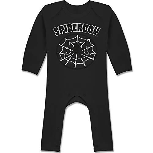 Karneval und Fasching Baby - Spiderboy - 12-18 Monate - Schwarz - BZ13 - Baby-Body Langarm für Jungen und Mädchen (Kinder Spider Kostüm Ideen)
