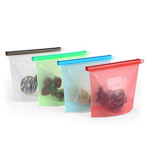 Bolsa Silicona Reutilizable Set 4 colores Preservación