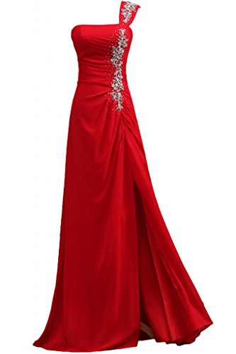 Sunvary-One, tracolla vestiti da sera anteriori laterali Pageant Gowns Party Dresses-Abito da sera Red