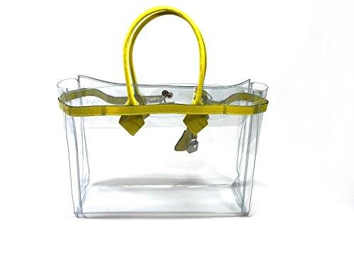 """Cabas Diamant """" Mon Autre Sac ® """" jaune"""
