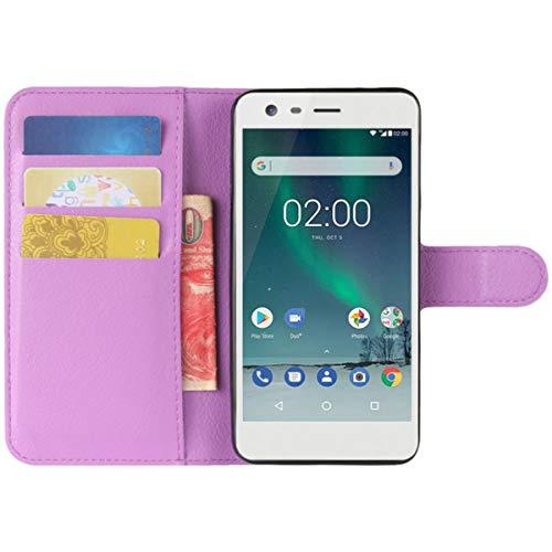 HualuBro Moto X2 Hülle, Premium PU Leder Leather Wallet HandyHülle Tasche Schutzhülle Flip Case Cover für Motorola Moto X 2. Generation XT1092 Smartphone (Violett)