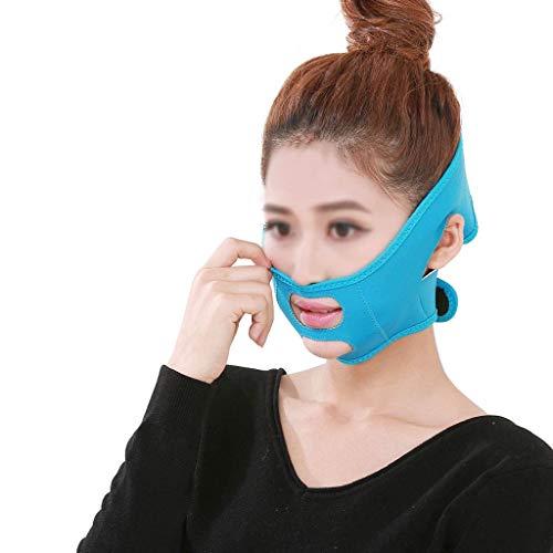 CY Face-Lifting-Maske, Physikalisches Face-Lifting Kleines V-Face-Massagegerät Unterkiefer Schlafkorrekturbandage, Straffende Hautstraffung